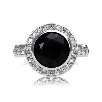 Gorgeous Black Diamond Engagement Ring