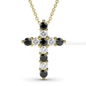 diamonds cross pendant