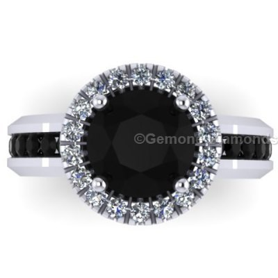 Black And White Diamonds Engagement Rings For Her Shop Now Online