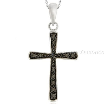 diamond accent cross pendant