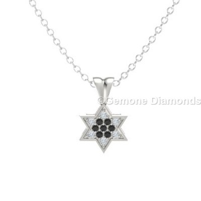 Pendant star of david for sale online from gemone diamond for sale pendant star of david with black and white diamonds in 14k white gold nice white gold star of david pendant in 14k gold with black diamond14k yellow gold aloadofball Choice Image