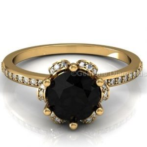 black diamond engagement ring for women