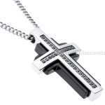 black diamonds cross pendants