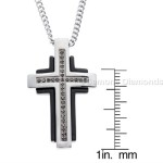 cross pendant black