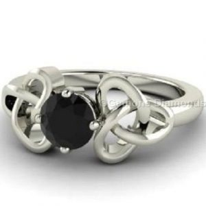 black diamond designer ring