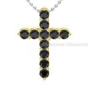 yellow gold cross pendant
