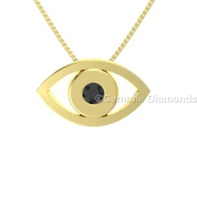 Evil eye pendant necklace in 14k yellow gold for fashion lovers online stunning evil eye pendant necklace in 14k yellow gold with black diamond amazing evil eye pendant in 14k white gold with natural black diamondgorgeous white aloadofball Images