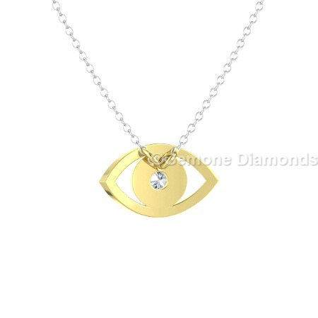 Yellow gold evil eye necklace in 14k yellow gold for spirituals online nice 14k yellow gold evil eye necklace aloadofball Choice Image