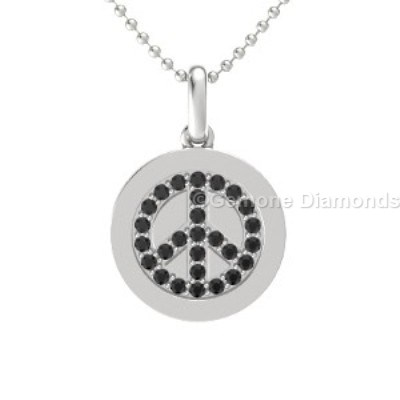 diamond peace pendant