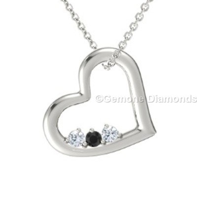 heart-shaped diamond pendant