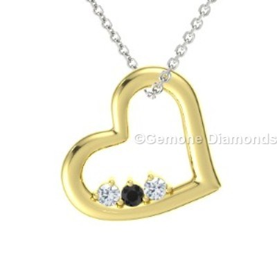 Yellow gold heart necklace for valentines day sale online shop now yellow gold heart necklace 14k with natural black and white diamond white gold heart necklace 14k with natural black and white diamond aloadofball Gallery