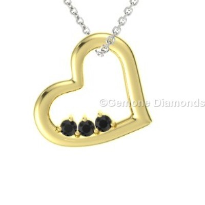 heart-shaped yellow gold pendant