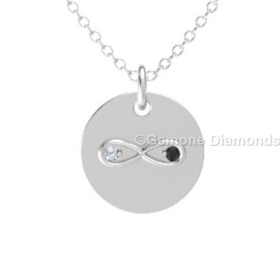 infinity necklace white gold