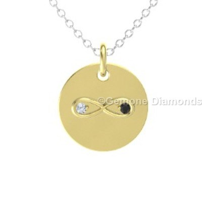 Infinite love pendant with black and white diamonds for sale online infinite love pendant with black and white diamonds in 14k yellow gold fabulous together forever necklace pendant in 14k white gold with black and white aloadofball Images