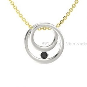 simply black diamond pendant