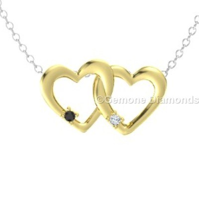 linked heart-shaped pendant