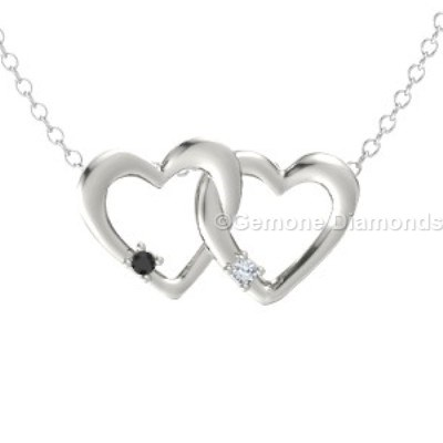 heart-shaped linked pendant