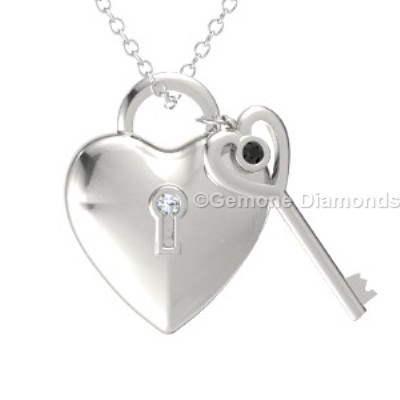 Lock and key pendant in 14k white gold from gemone diamonds online lock and key pendant with combination of black and white diamonds in 14k white gold lot of 100 carat 30 mm to 40 mm congo cube rough diamonds lots aloadofball Images