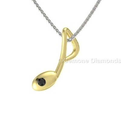 music-shaped pendant