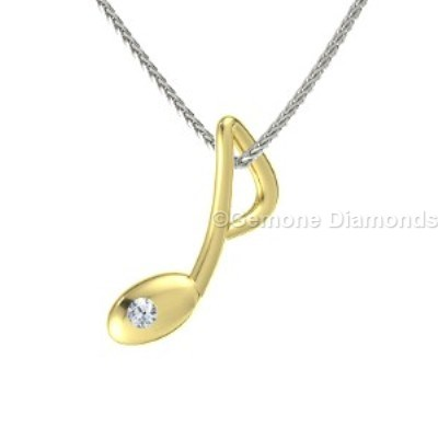 gold musical note pendant