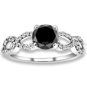 1.50 carat black diamond engagement ring
