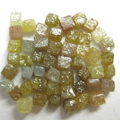 Lot of 3.0 carat (2.0 mm to 3.0 mm) Congo cube Rough Diamonds Natural Uncut For Sale