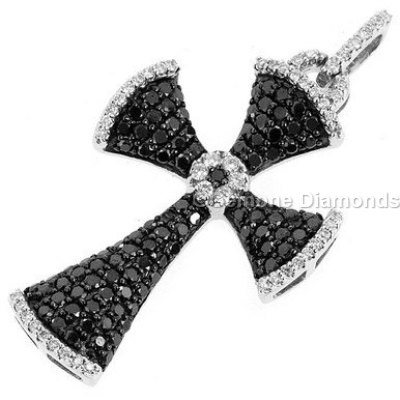 Cross pendant online with black and white diamonds in 14k white gold small black diamond cross pendant online in 14k white gold natural black and white diamonds yin yang necklace pendant in 14k white gold mozeypictures Gallery