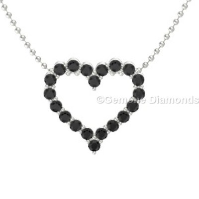 White gold black diamond heart necklace pendant for sale online admirable 14k white gold black diamond heart necklace charming black and white diamond heart pendant in 14k yellow gold14k yellow gold heart pendant with mozeypictures Images