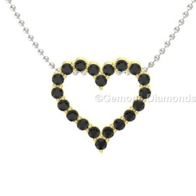 14k yellow gold heart pendant with black diamonds for sale online 14k yellow gold heart pendant with black diamonds admirable 14k white gold black diamond heart necklacesimple cross pendant in 14k white gold with black and mozeypictures Images