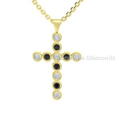 14k yellow gold cross pendant black and white diamonds for sale pretty 14k yellow gold cross pendant with black and white diamonds simple cross pendant in 14k white gold with black and white diamondscute 14k white gold aloadofball Image collections