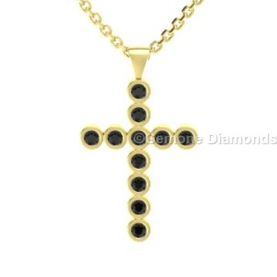 Pendant cross necklace in 14k gold for christmas sale online set with beautifully natural black diamonds 14k yellow gold pendant cross necklace cute 14k white gold cross pendant with black diamondsamazing star flower aloadofball Choice Image