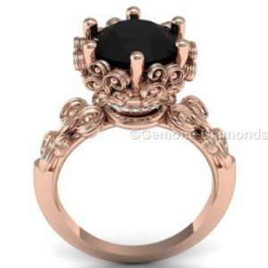 vintage style black diamond engagement rings