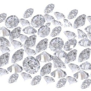 natural white diamonds lot