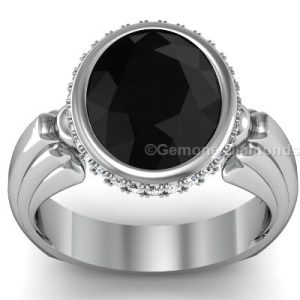 white gold black diamond engagement ring