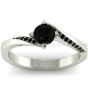 black diamond twisted ring