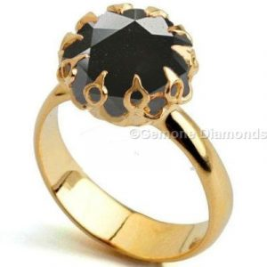 black diamond crown ring