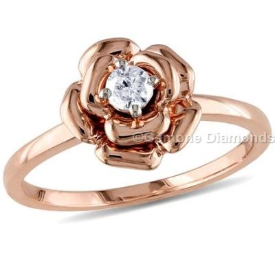 diamond rose ring