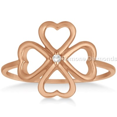 heart flower ring