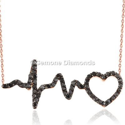 Rose Gold Heart Beat Pendant