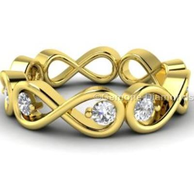 diamond infinity braid ring
