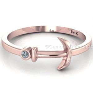 rose gold anchor ring