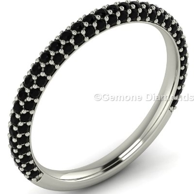 black diamond band ring