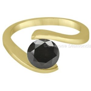 black diamond swirl ring