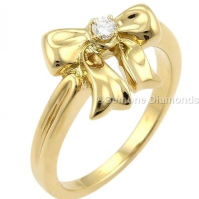 diamond bow ring