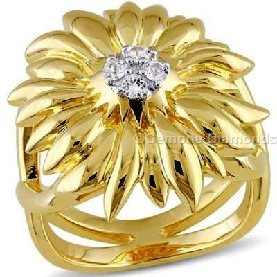 Yellow gold flower ring with pristine white diamonds for sale online stunning 14k yellow gold flower ring with pristine white diamonds appealing black diamond swirl ring in 14k yellow goldgorgeous black diamond stackable mightylinksfo