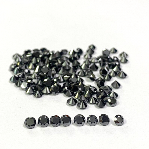 1 Ct Lot Calibrated Natural Black Diamond 1 MM To 1.30 MM