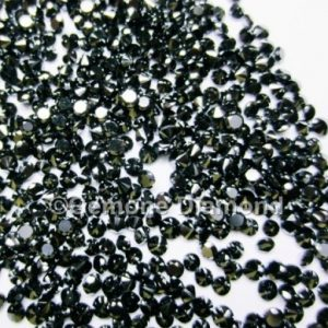 A quality loose calibrated black diamonds