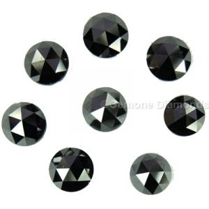 black natural calibrated diamonds