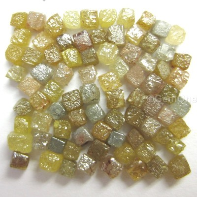 raw uncut congo cube diamonds