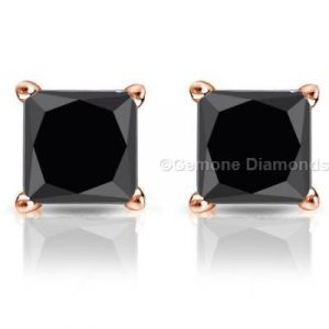 2 carat black diamond earrings